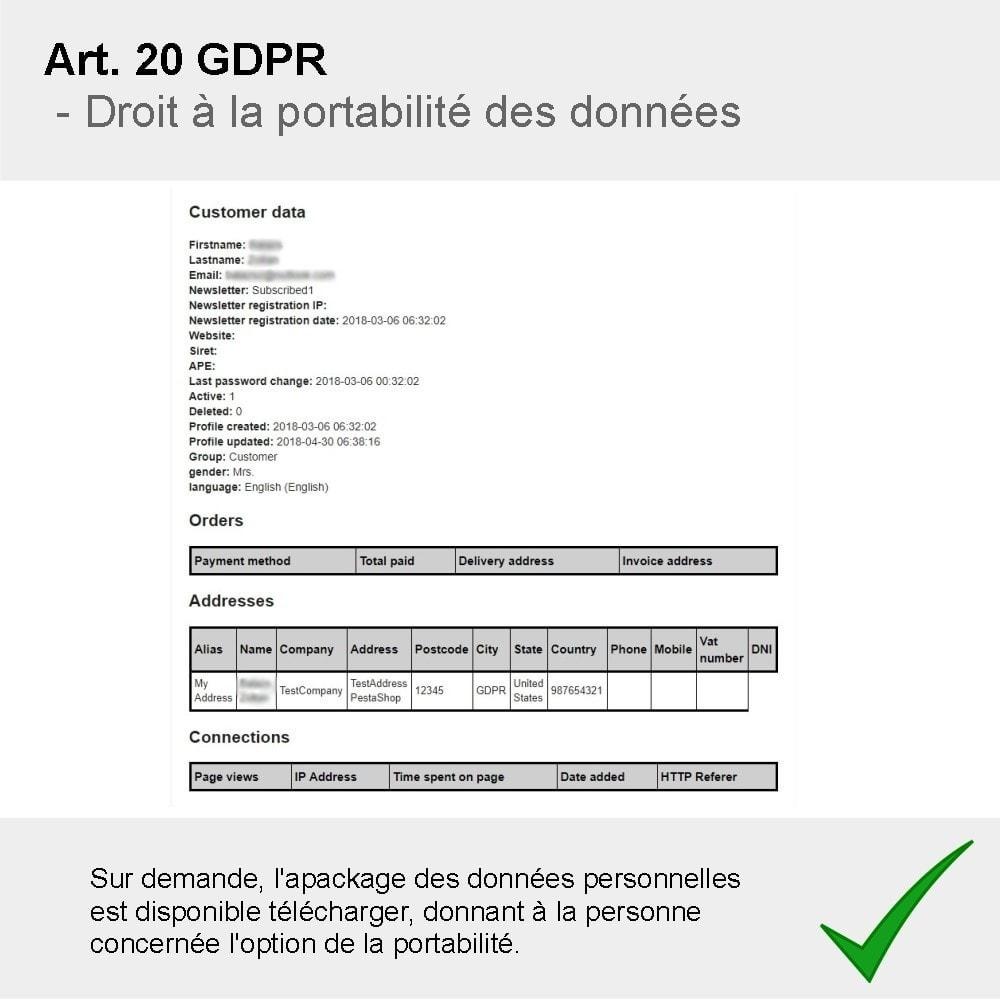 module - Législation - GDPR Compliance Pro - 2021 Édition améliorée - 8
