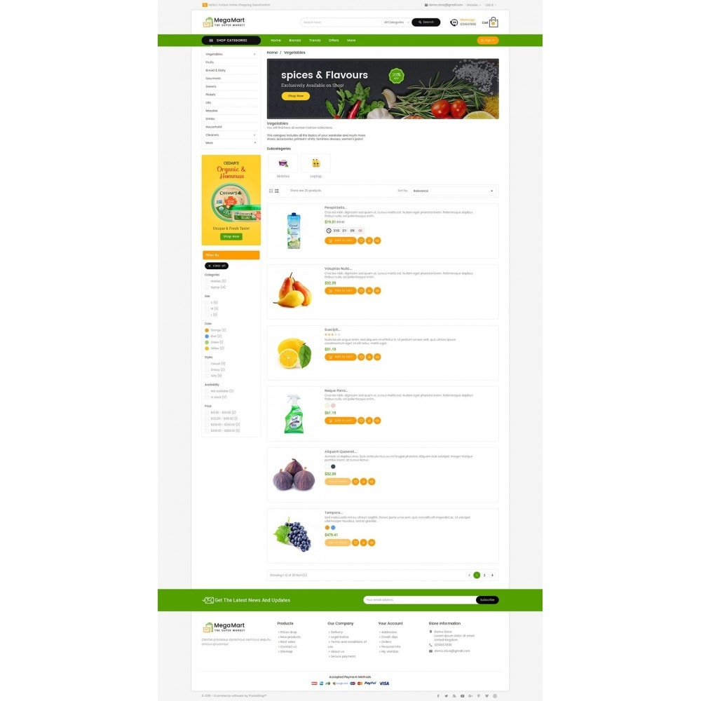 theme - Gastronomía y Restauración - Mega Mart Grocery - 5