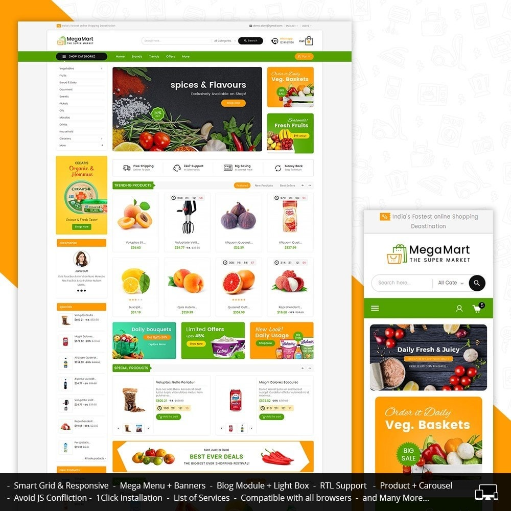 theme - Lebensmittel & Restaurants - Mega Mart Grocery - 2