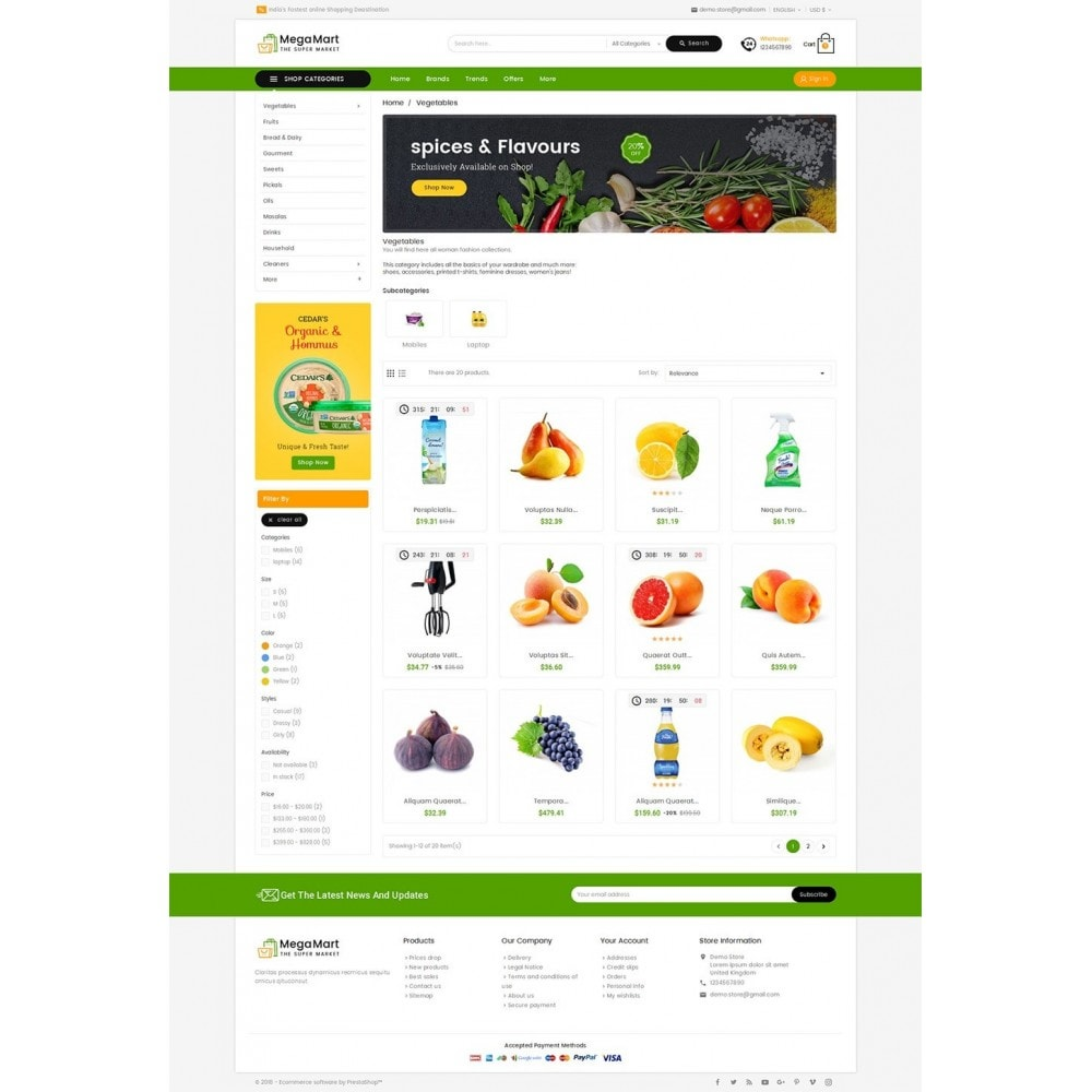 theme - Lebensmittel & Restaurants - Mega Mart Grocery - 4