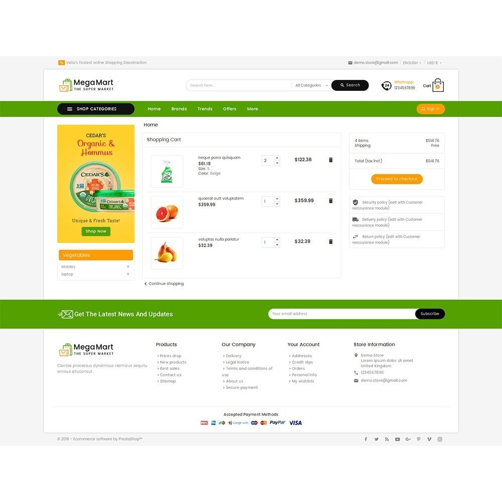 theme - Lebensmittel & Restaurants - Mega Mart Grocery - 7