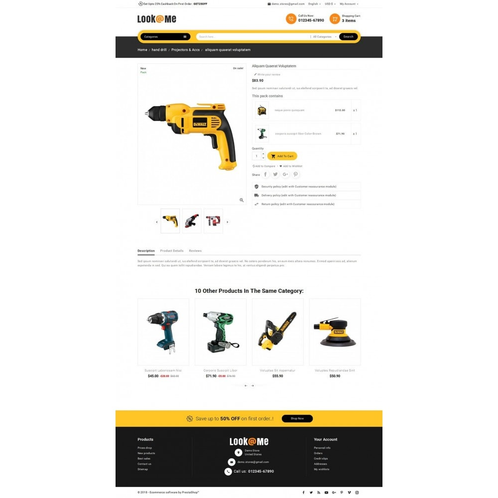 theme - Electrónica e High Tech - Look me Tools Equipment - 6