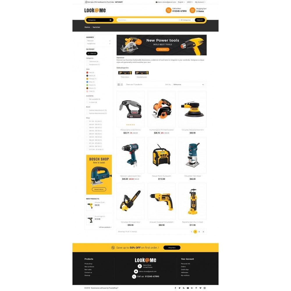 theme - Elettronica & High Tech - Look me Tools Equipment - 4