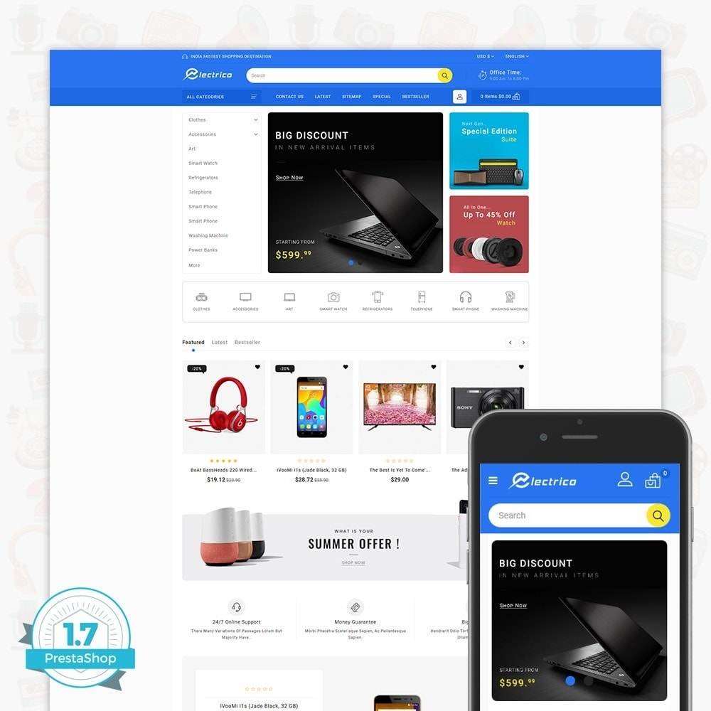 theme - Electrónica e High Tech - Electro - The Large Ecommerce Store - 1