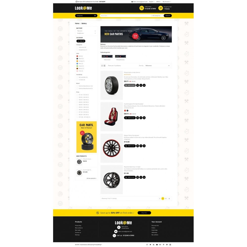 theme - Auto & Moto - Look me Auto Parts - 5
