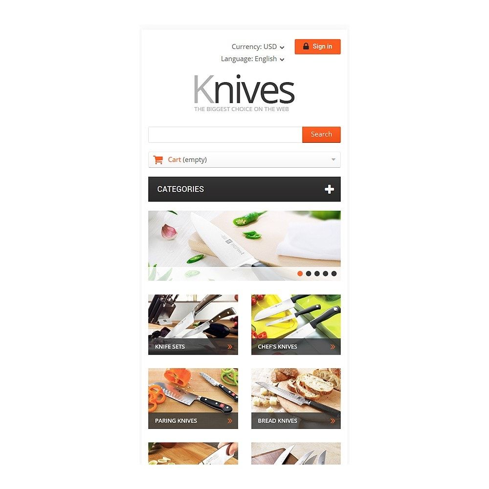 theme - Kultura & Sztuka - Selling Knives - 8