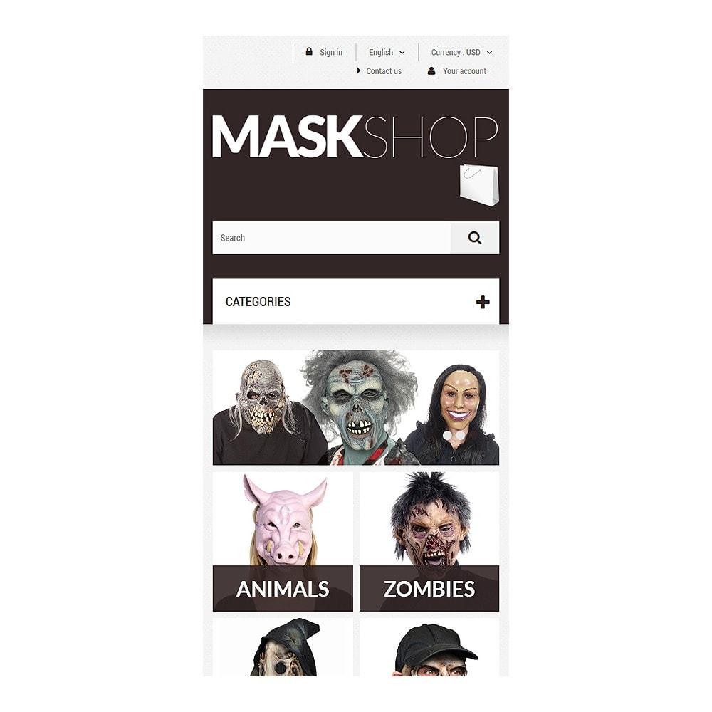 theme - Cadeaux, Fleurs et Fêtes - Masques de mascarade - 8