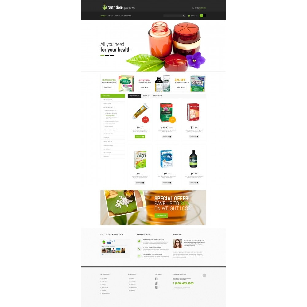 theme - Salute & Bellezza - Nutrition Products - 4