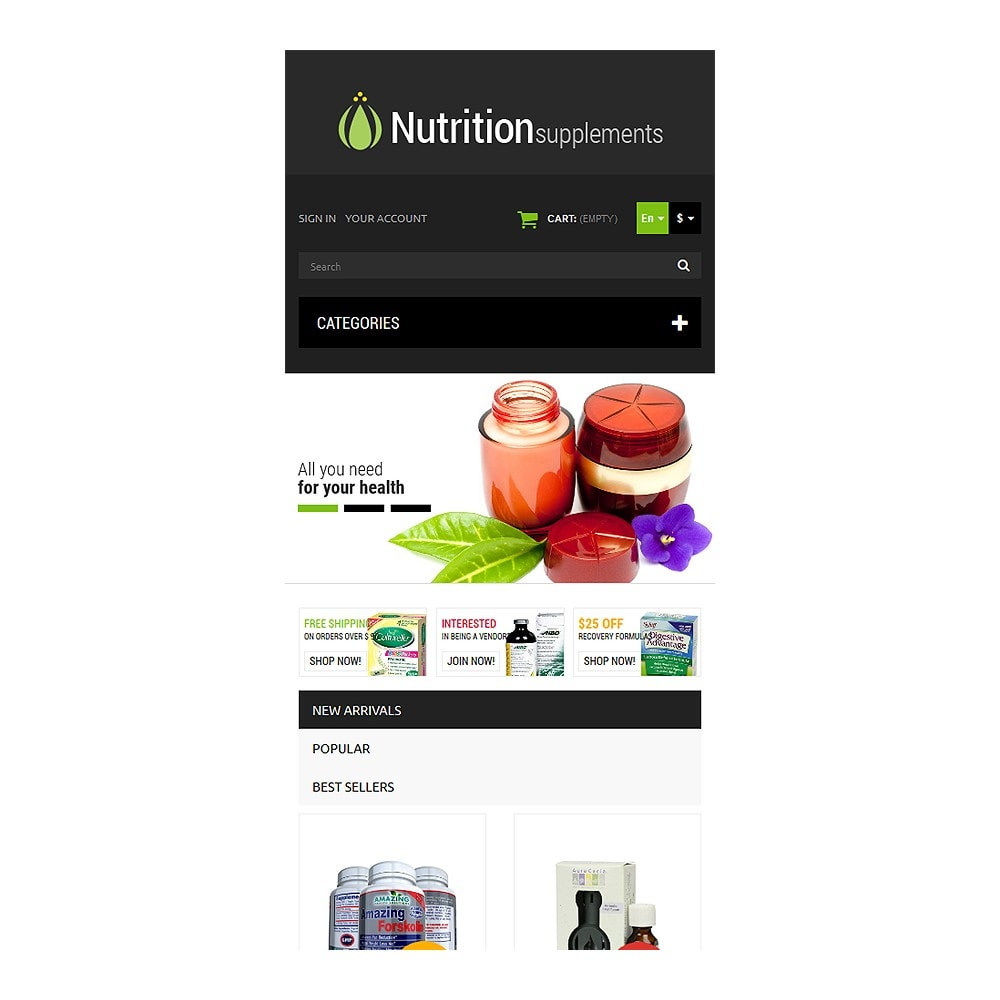 theme - Salute & Bellezza - Nutrition Products - 8