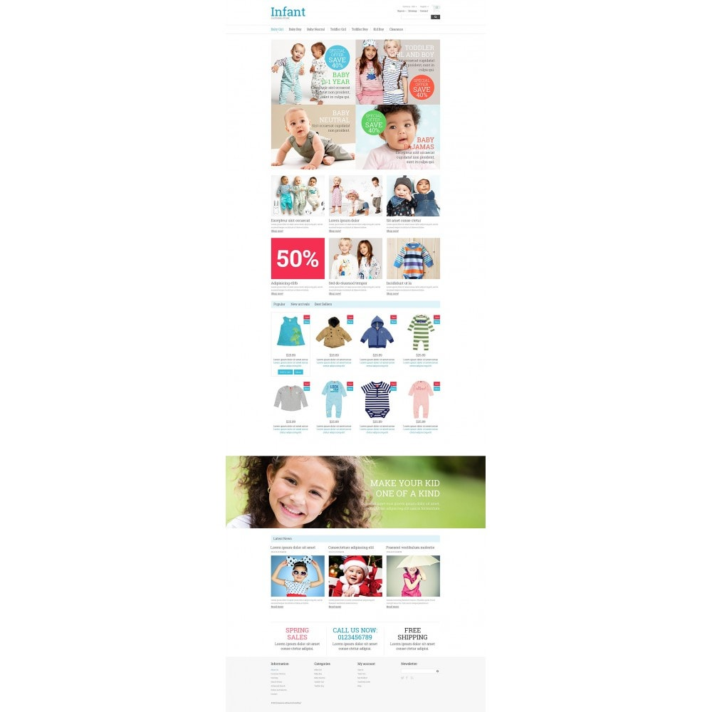 theme - Dom & Ogród - Infant Clothing Store - 2