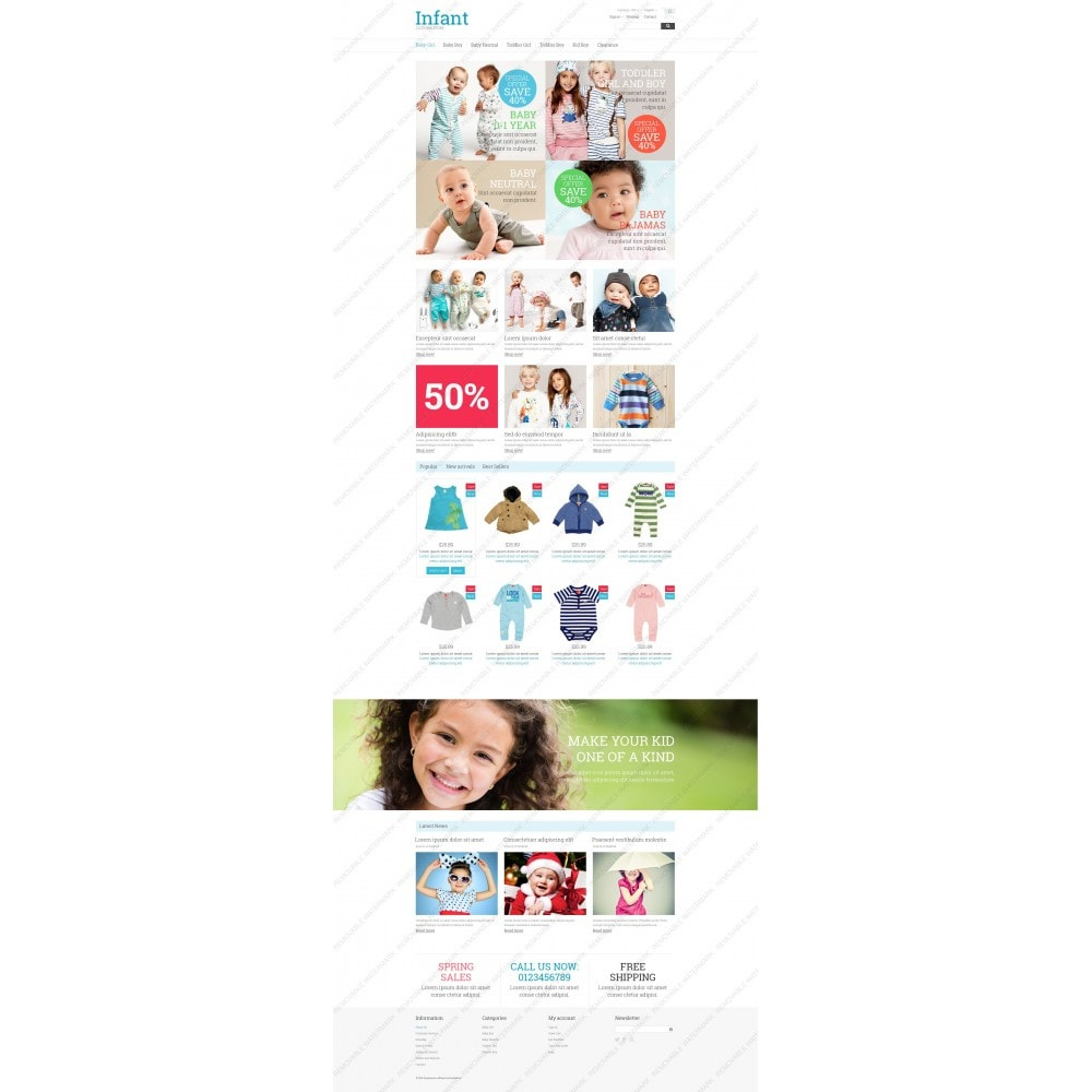 theme - Dom & Ogród - Infant Clothing Store - 5