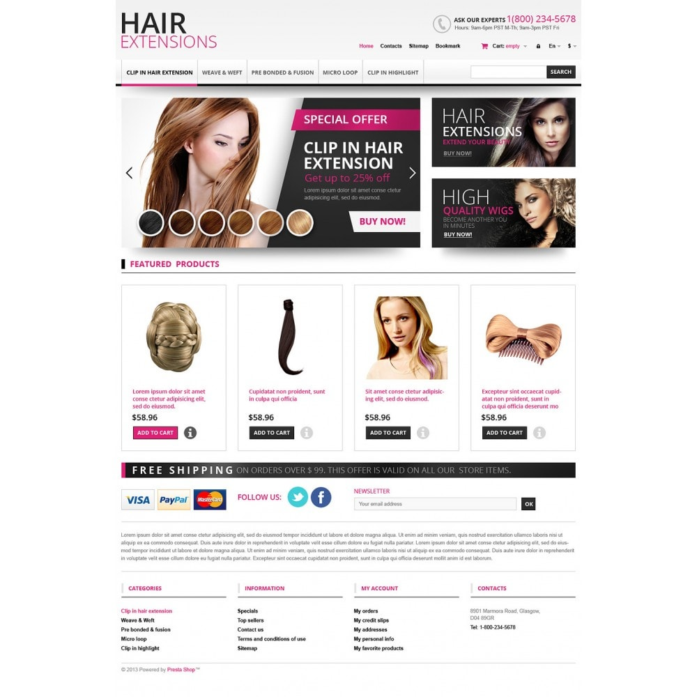 theme - Mode & Chaussures - Hair Extensions Store - 2