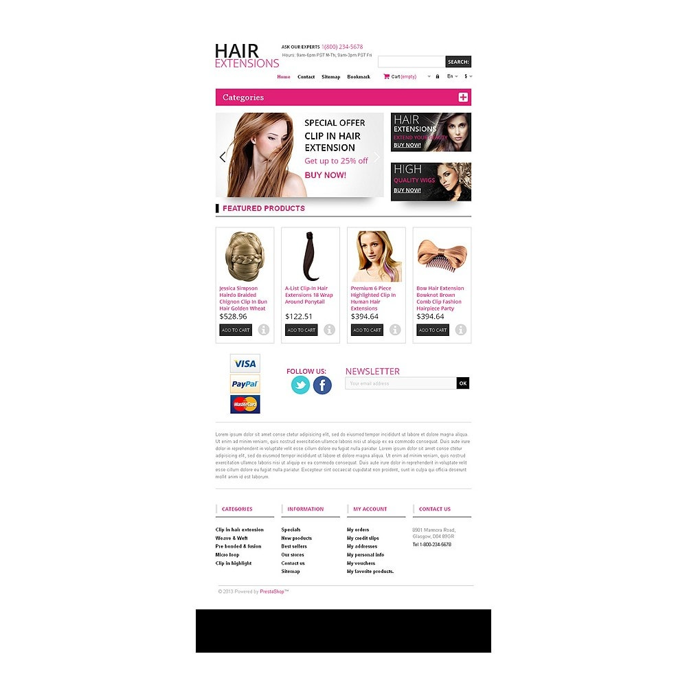 theme - Mode & Chaussures - Hair Extensions Store - 7