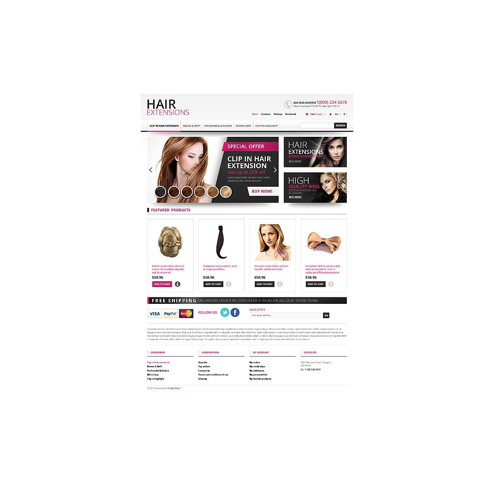 theme - Moda & Calzature - Hair Extensions Store - 10