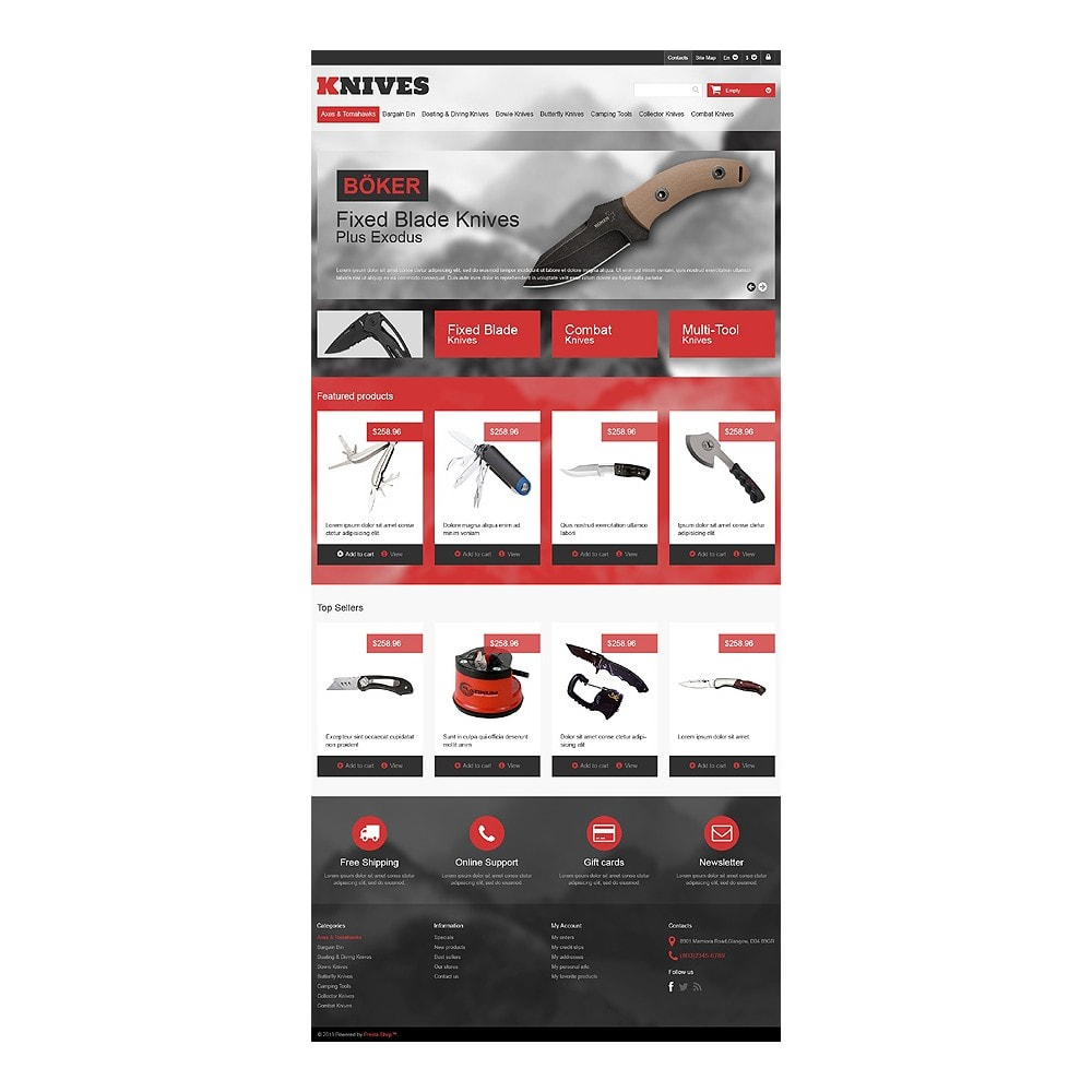 theme - PrestaShop Szablony - Multi-Purpose Knives - 10