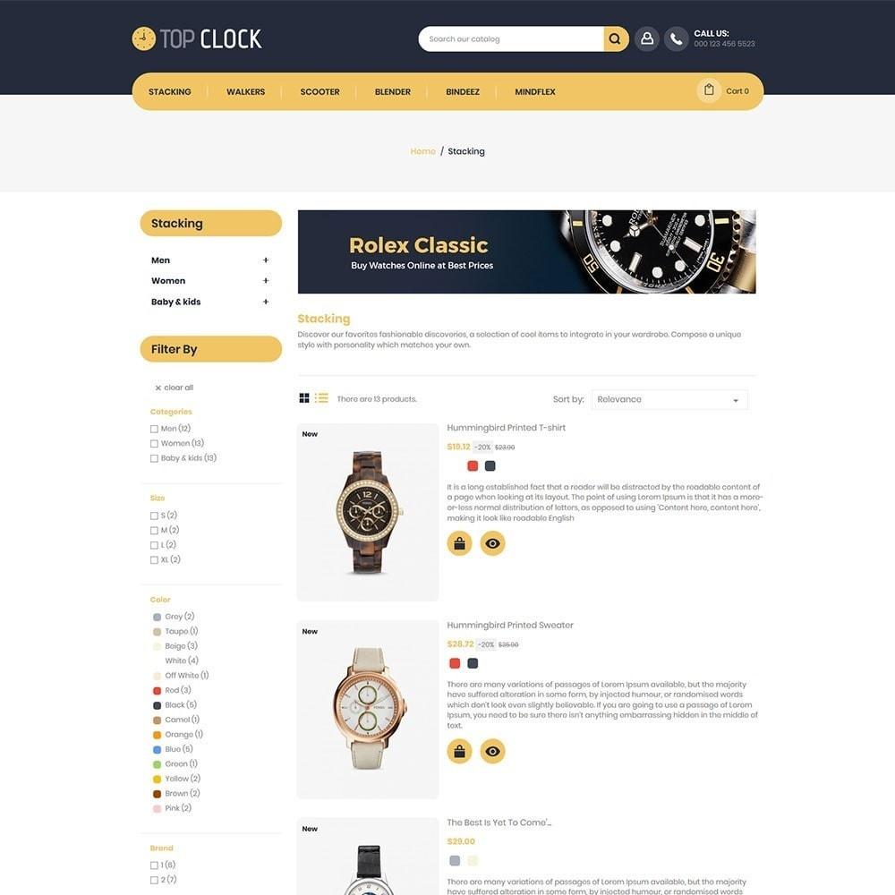 theme - Moda y Calzado - Top Clock - Watch Store - 4