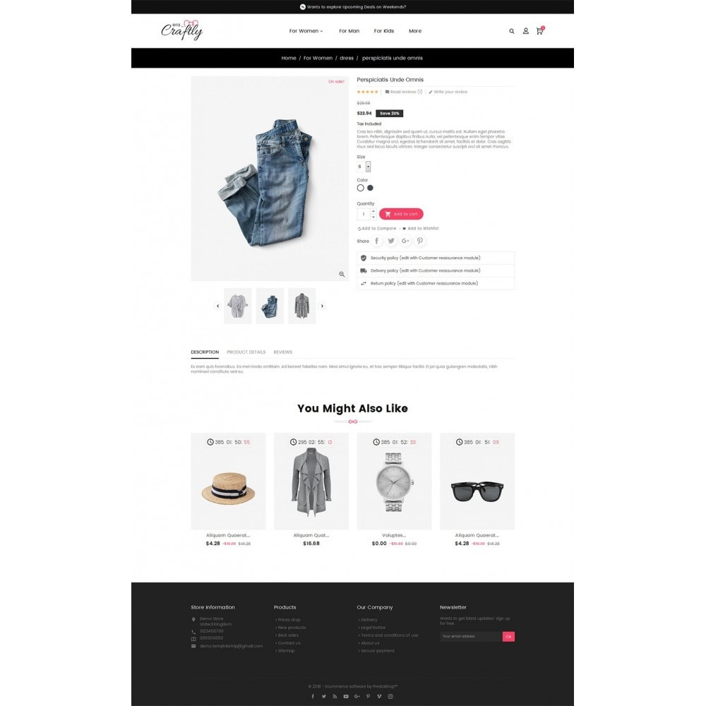 theme - Moda & Calzature - Craftly Fashion Apparels - 6