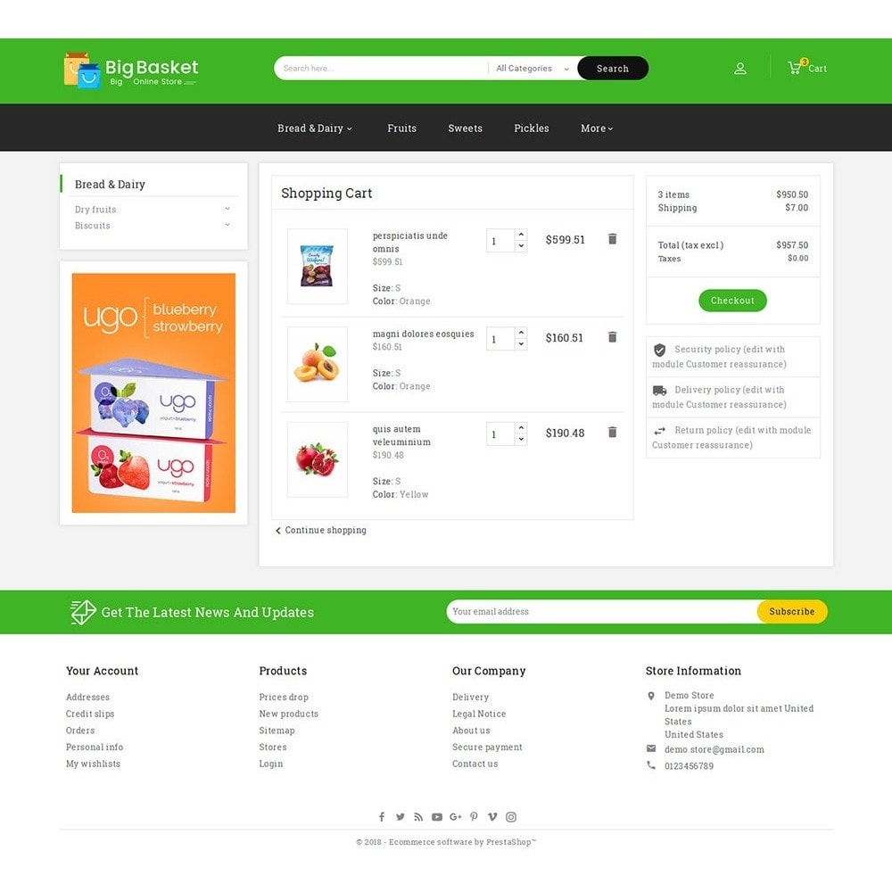 theme - Alimentation & Restauration - Big Basket Mega Grocery - 7