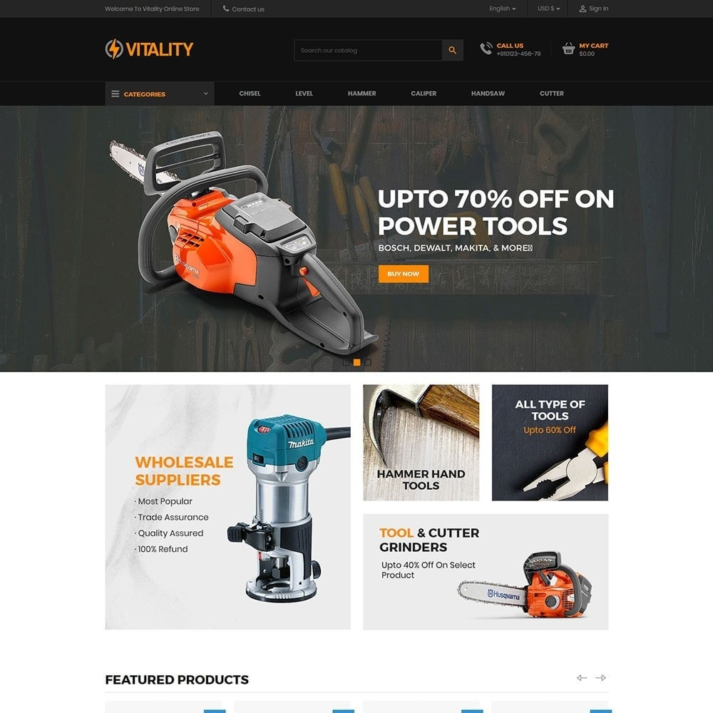 theme - Samochody - Vitality - Tools Online Store - 2
