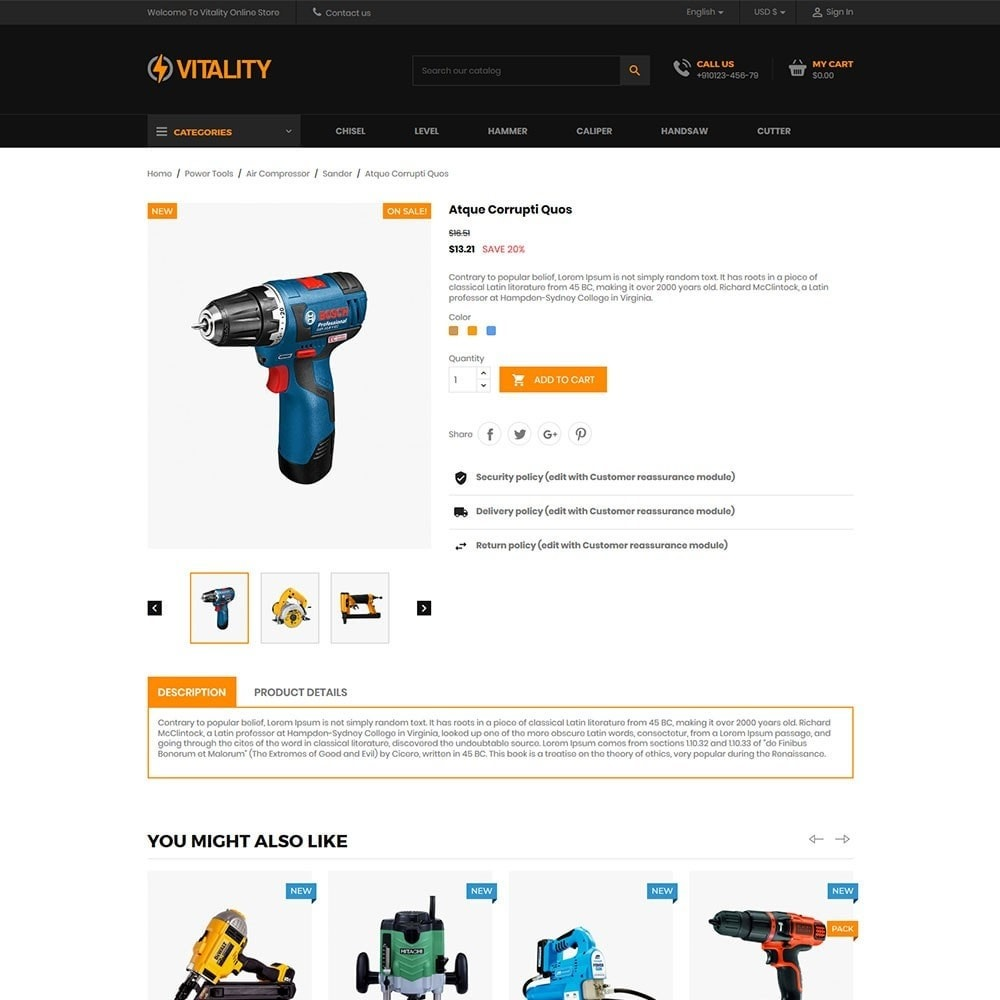 theme - Automotive & Cars - Vitality - Tools Online Store - 5
