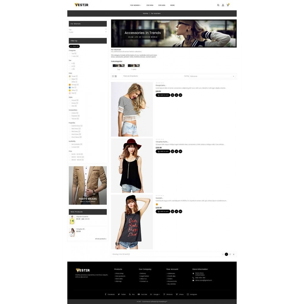 theme - Moda & Calzature - Vestir Fashion Catalog - 5