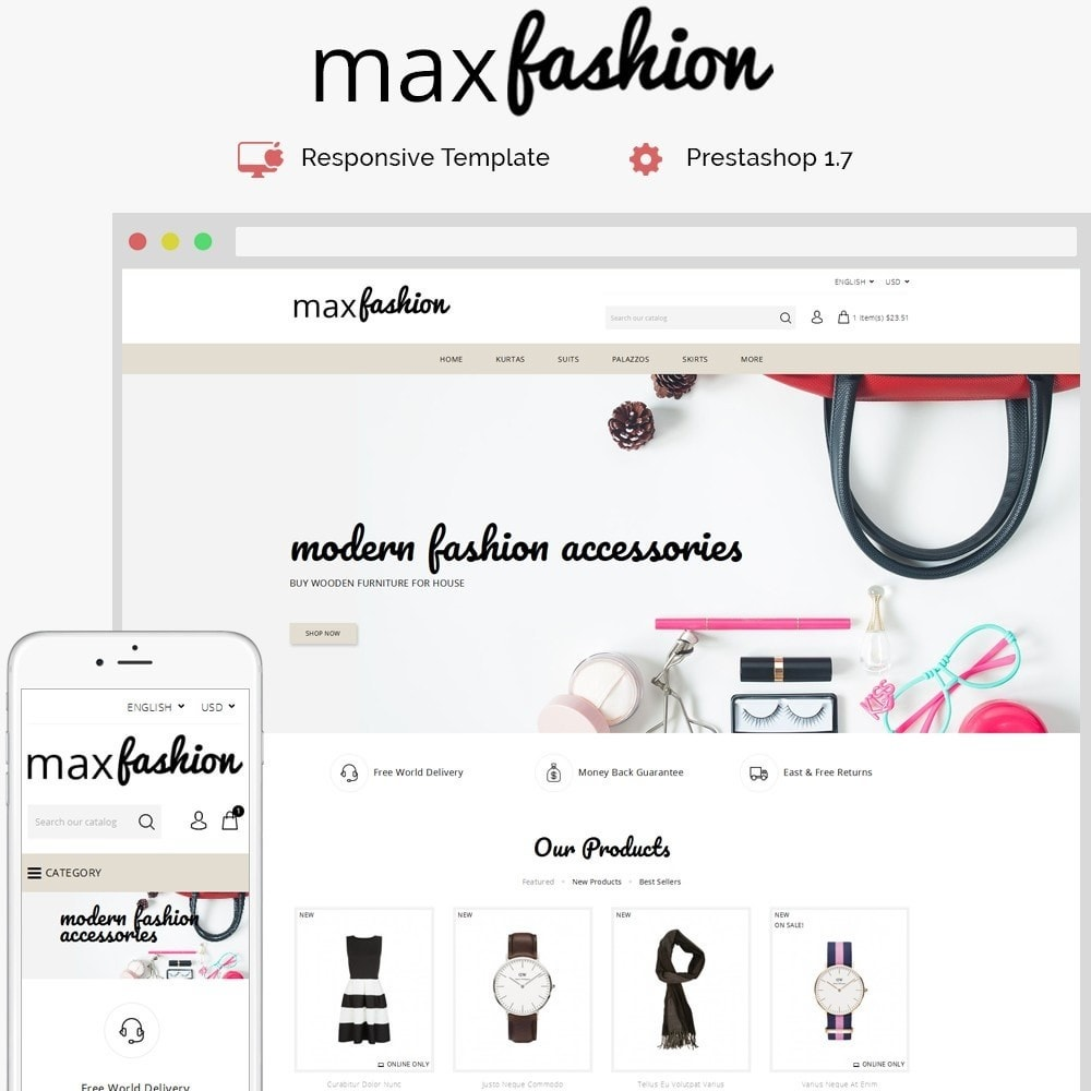 theme - Mode & Chaussures - MaxFashion Demo Store - 1