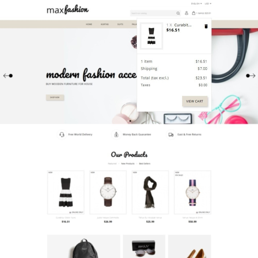 theme - Mode & Chaussures - MaxFashion Demo Store - 8