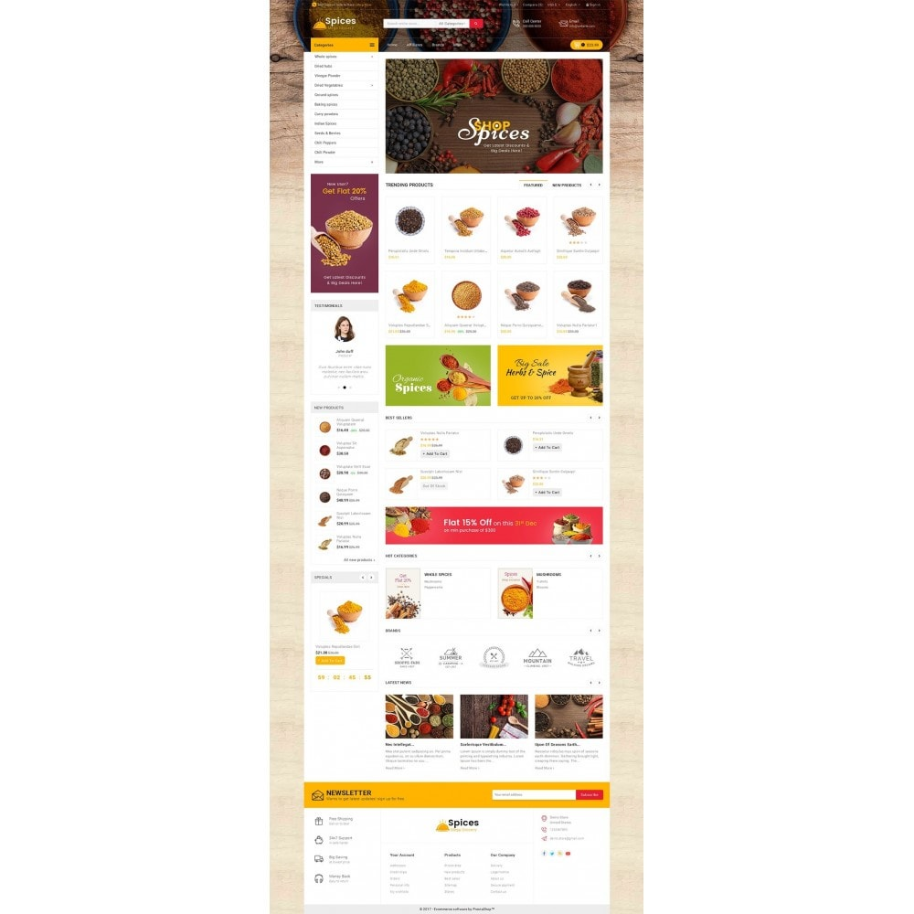 theme - Alimentation & Restauration - Spices Mega Store - 3
