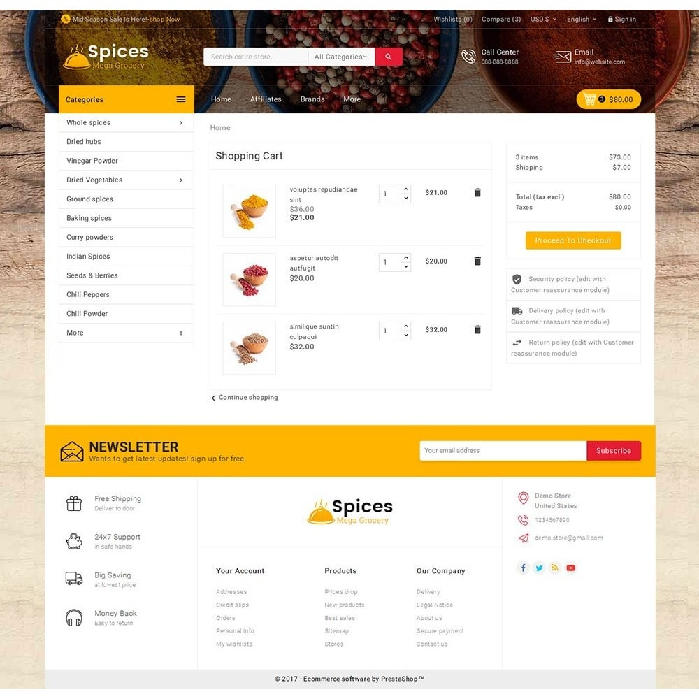 theme - Alimentation & Restauration - Spices Mega Store - 7