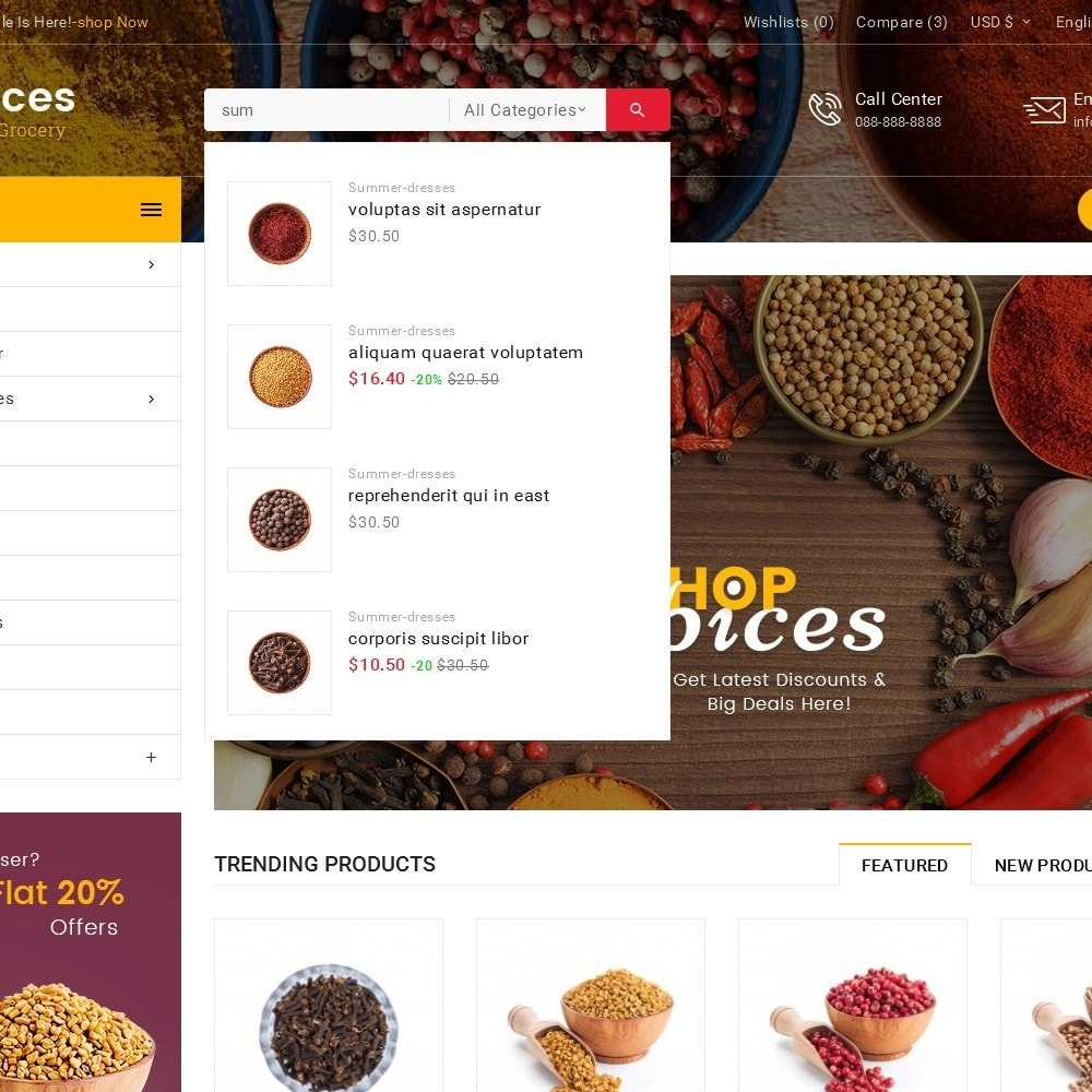 theme - Alimentation & Restauration - Spices Mega Store - 11