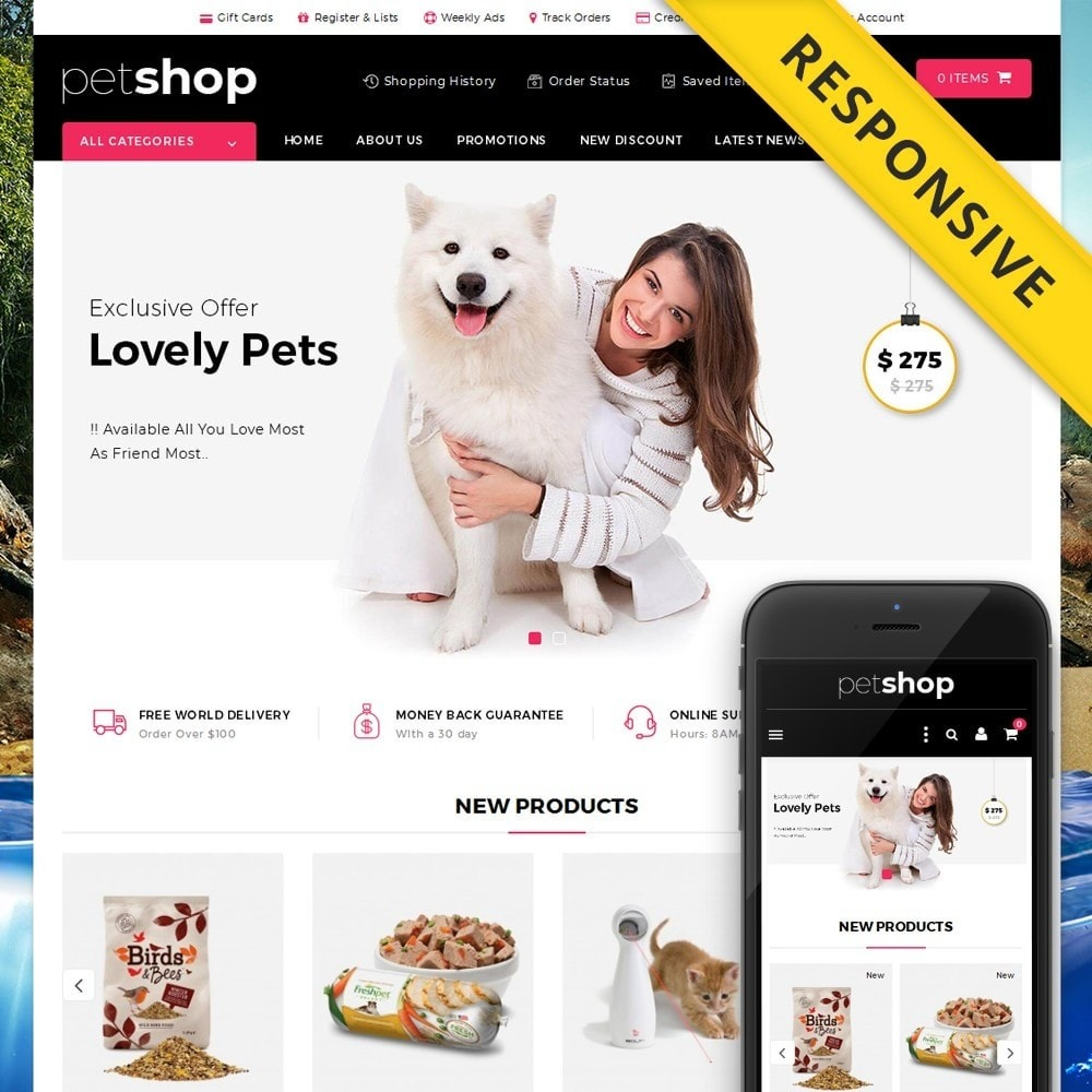 theme - Animais - Pet Online Shop - 1