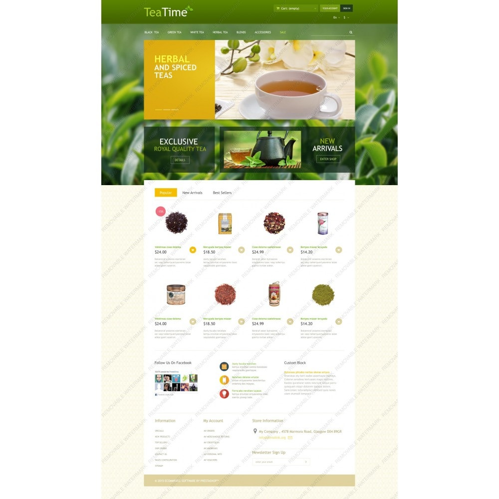 theme - Food & Restaurant - Tea Store - 3