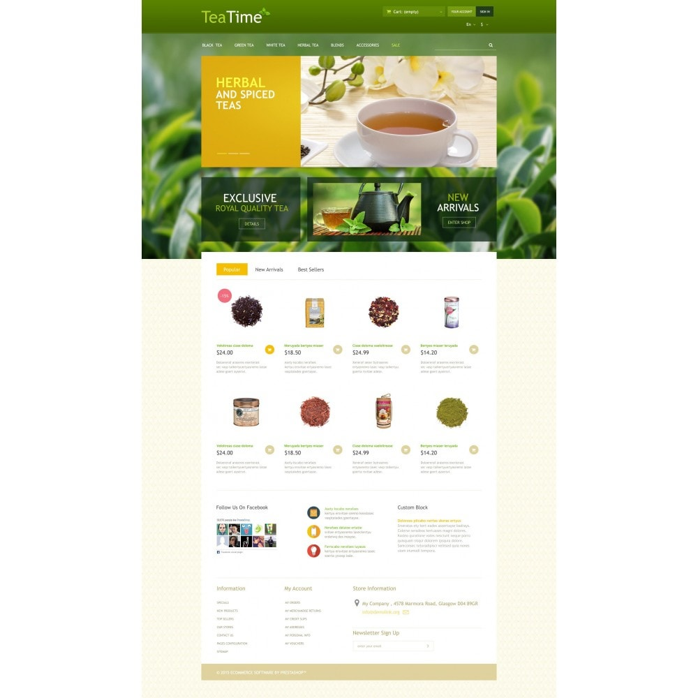 theme - Food & Restaurant - Tea Store - 4