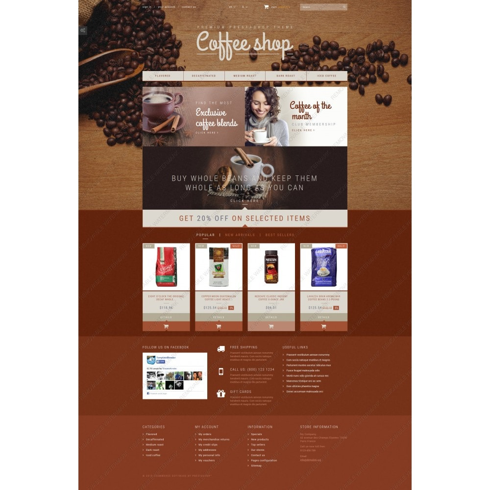 theme - Food & Restaurant - Coffee Aroma - 5