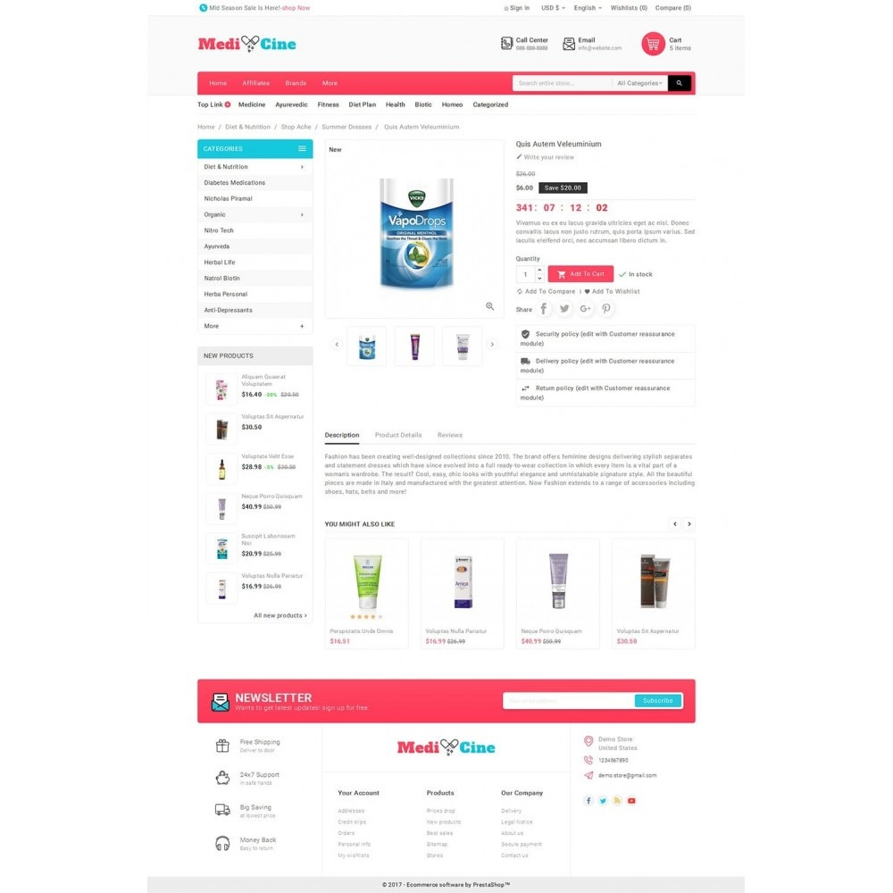 theme - Salud y Belleza - Medicine Mega Store - 6