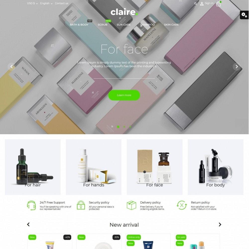 theme - Zdrowie & Uroda - Claire Cosmetics - 2