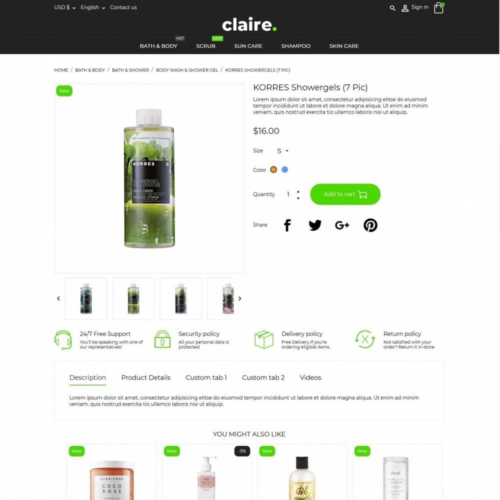 theme - Santé & Beauté - Claire Cosmetics - 6