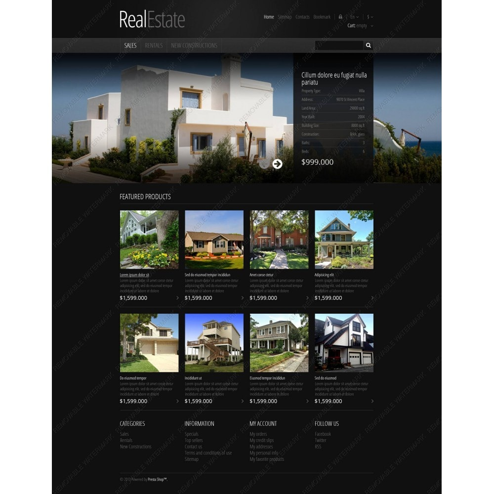 theme - PrestaShop Szablony - Responsive Real Estate Store - 3