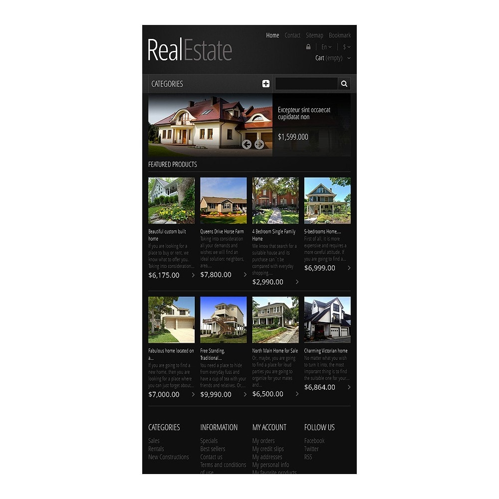 theme - PrestaShop Szablony - Responsive Real Estate Store - 7