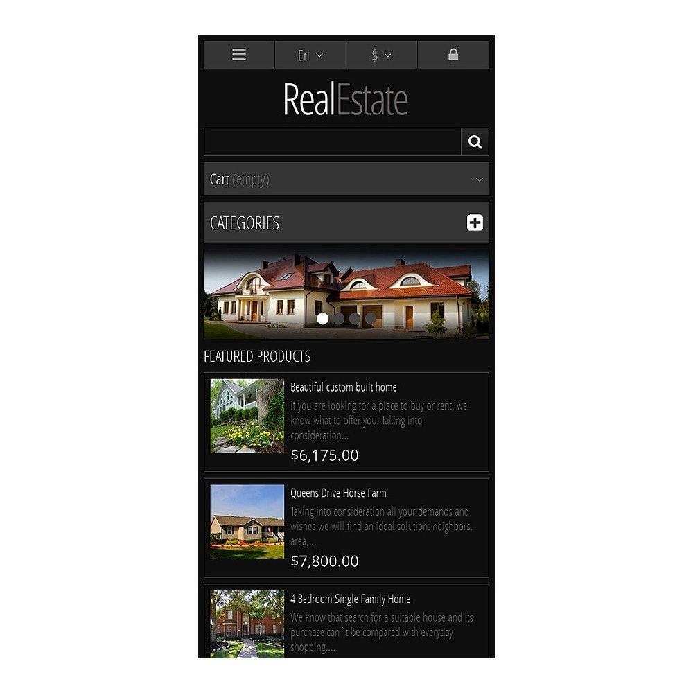 theme - PrestaShop Szablony - Responsive Real Estate Store - 8