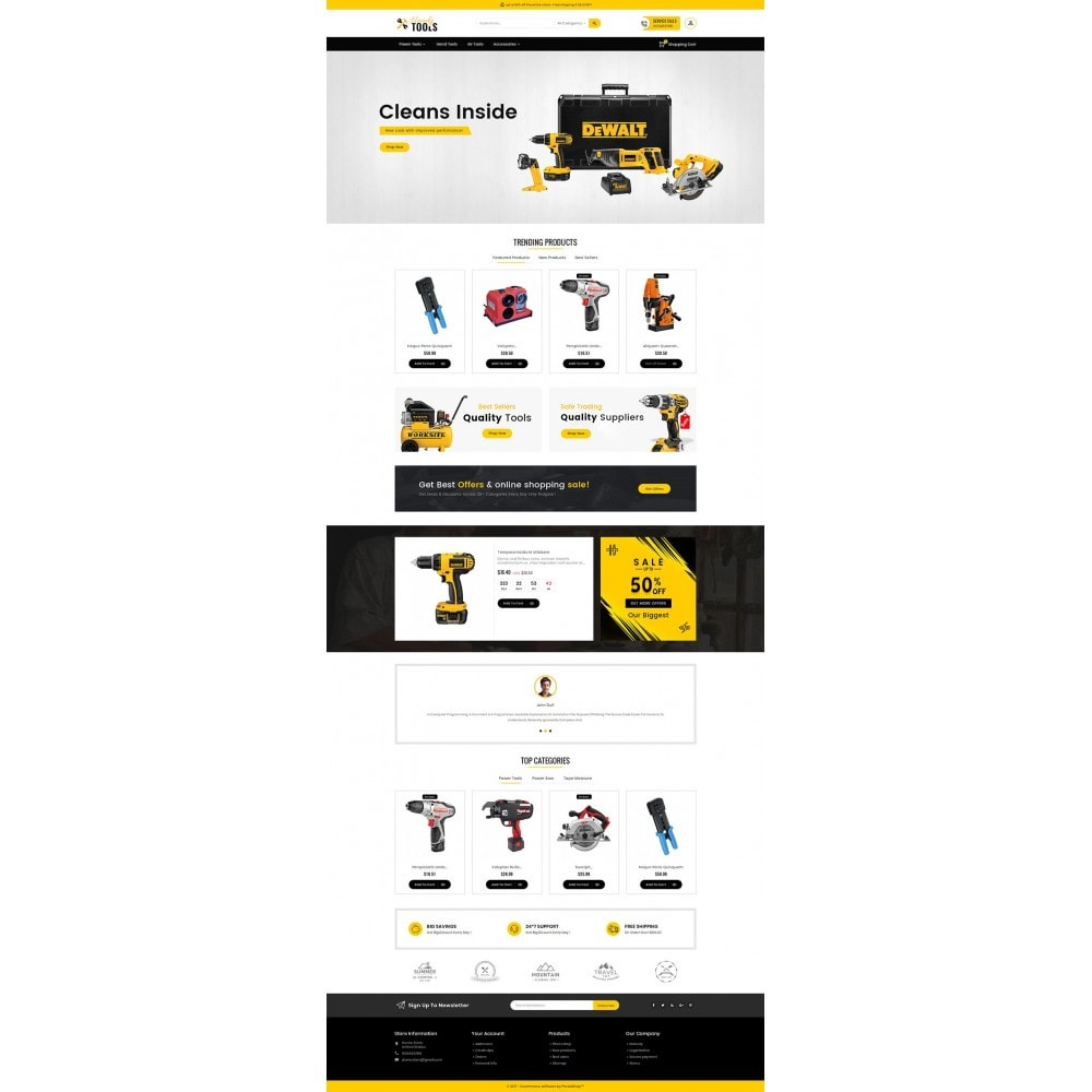 theme - Electronique & High Tech - Handy Tools Store - 3