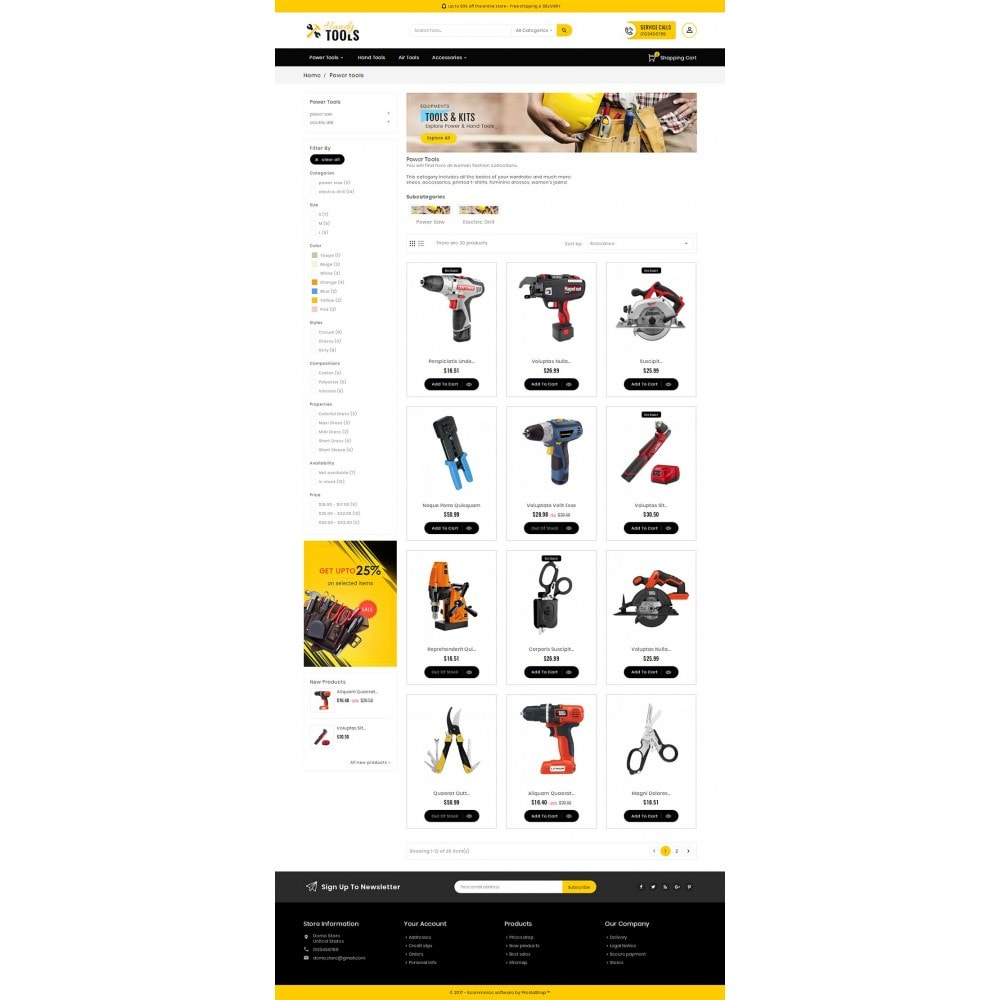 theme - Electronique & High Tech - Handy Tools Store - 4