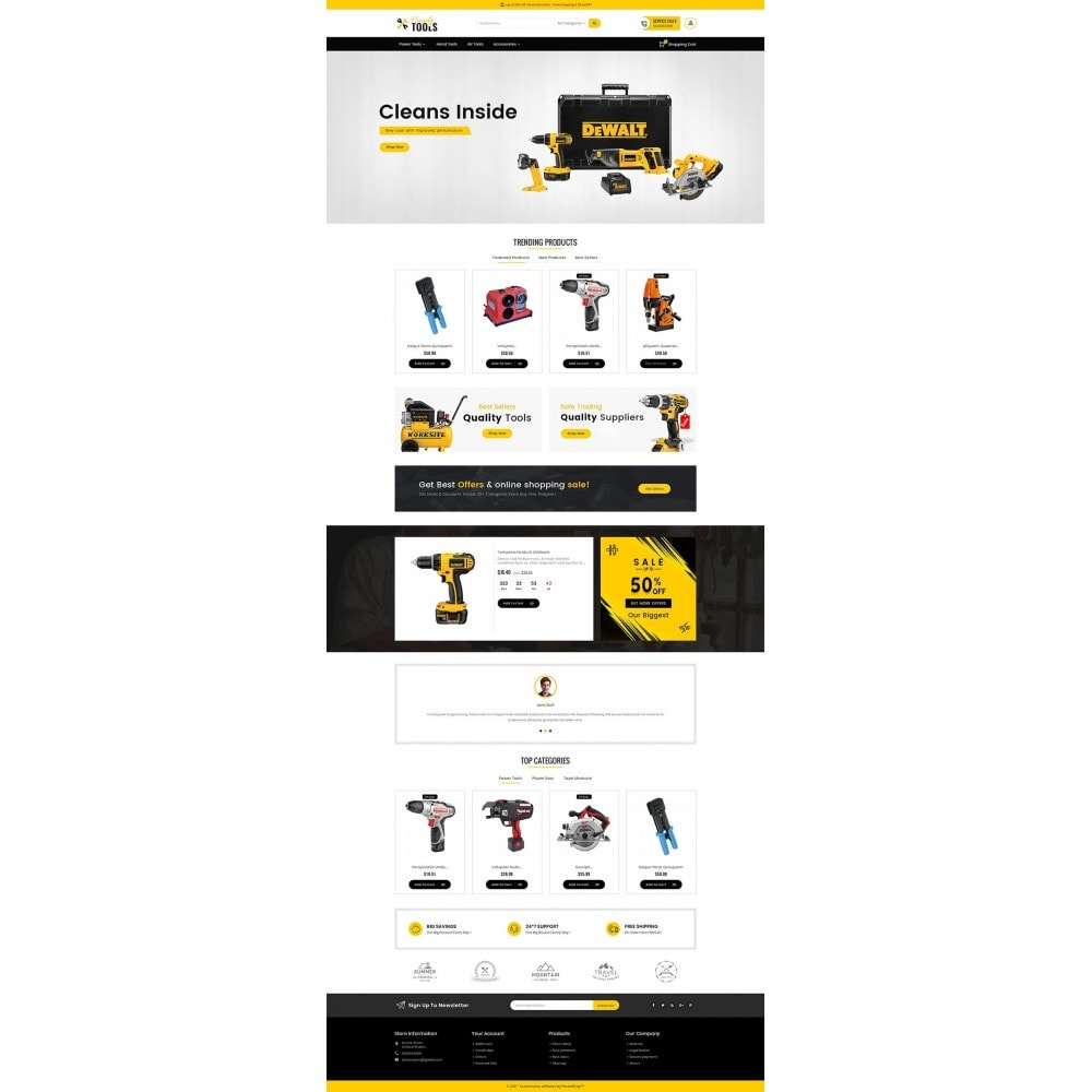 theme - Electrónica e High Tech - Handy Tools Store - 3