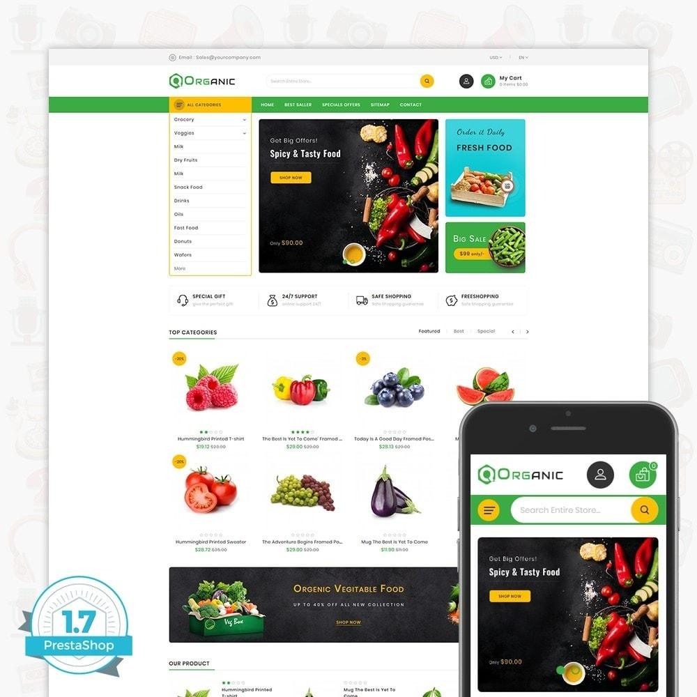 theme - Gastronomía y Restauración - Organic Food - The Food - 1