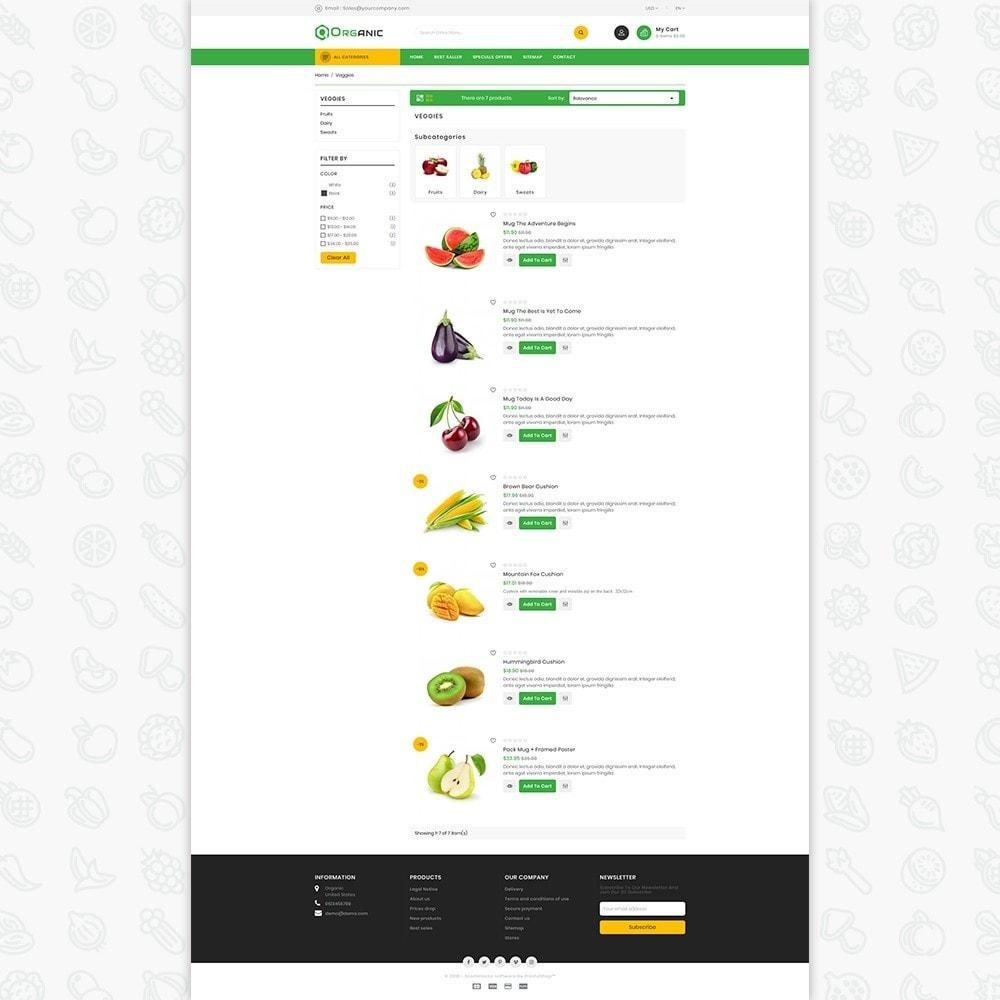 theme - Gastronomía y Restauración - Organic Food - The Food - 4
