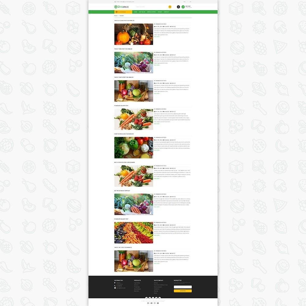 theme - Gastronomía y Restauración - Organic Food - The Food - 7
