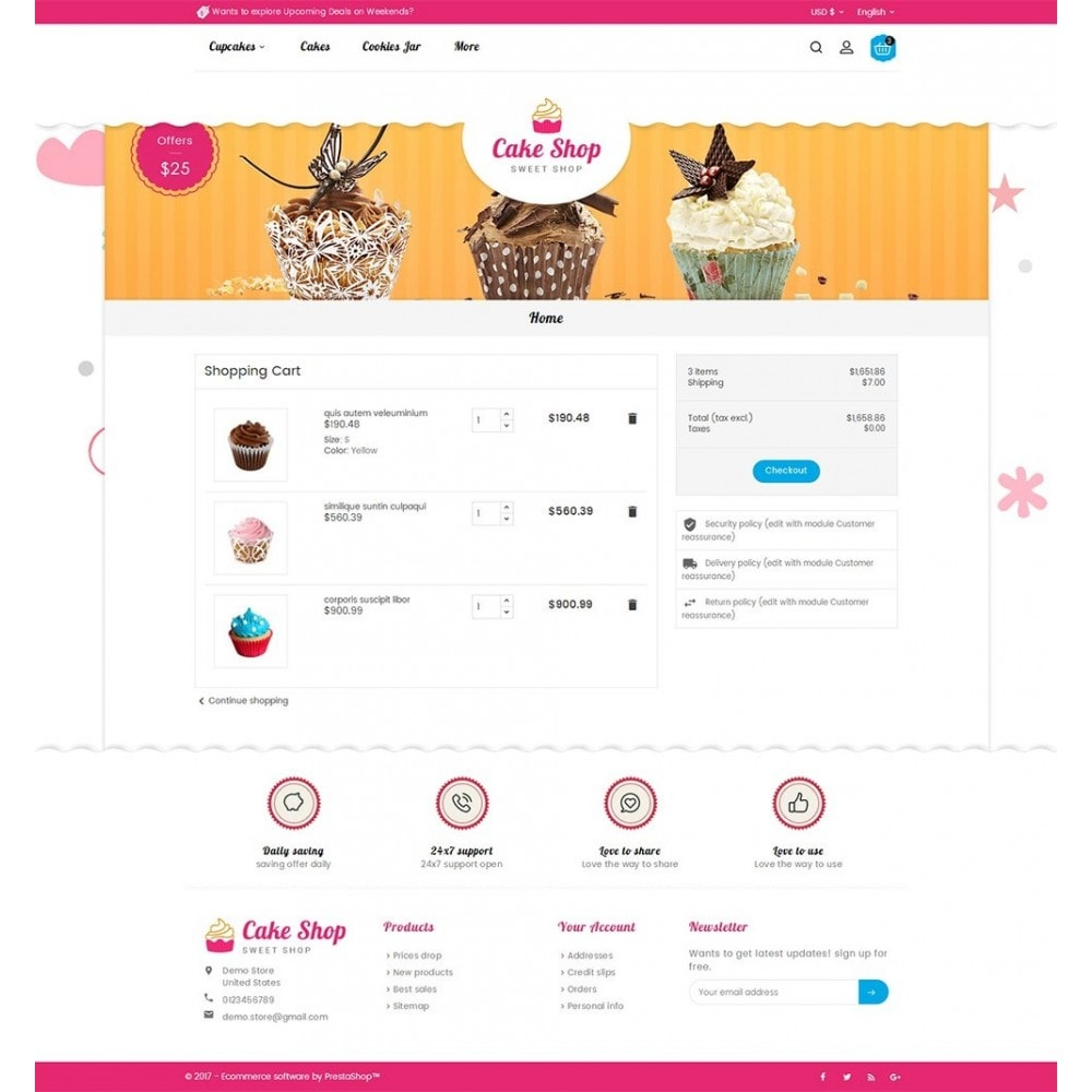 theme - Alimentation & Restauration - Cake Shop - 7