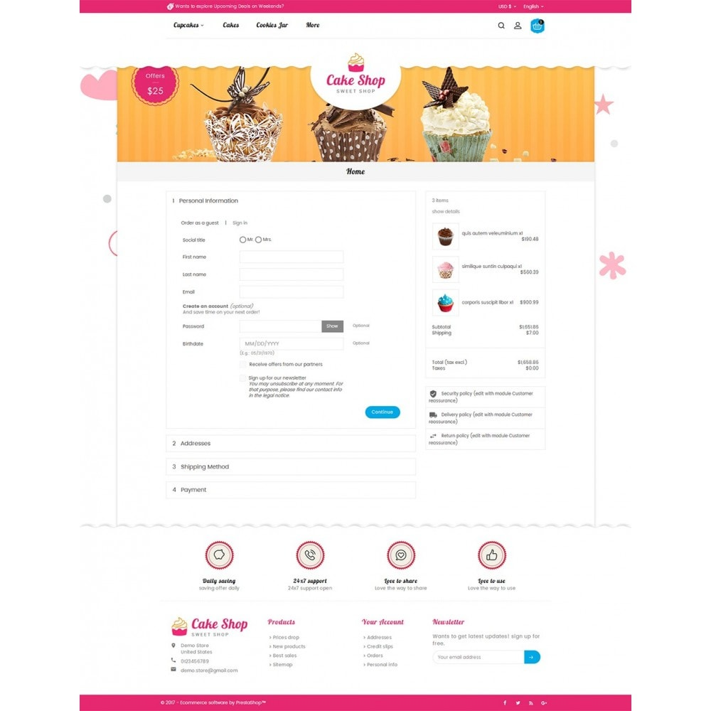 theme - Alimentation & Restauration - Cake Shop - 8