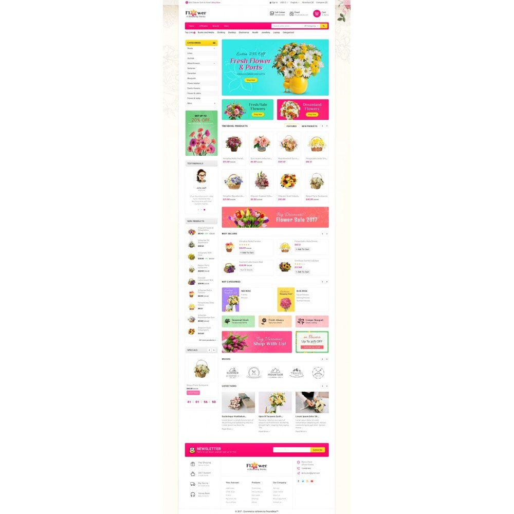 theme - Regali, Fiori & Feste - Blooming Flower Mega Store - 3