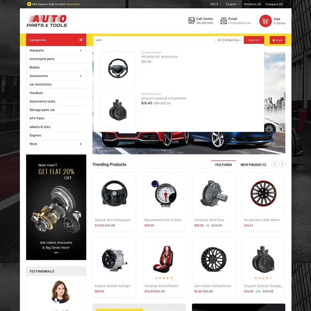 theme - Coches y Motos - Auto Parts Mega Store - 11